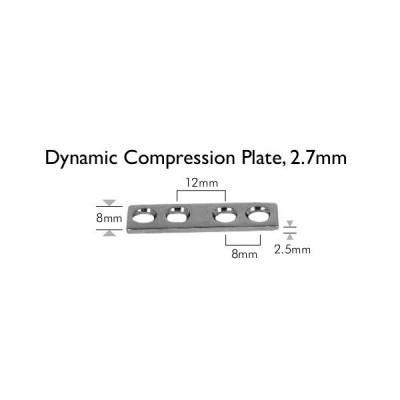 płytka DCP, 4,5mm, 4-otworowa